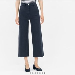 Everlane The Wide Leg Crop Cropped Cotton Pants